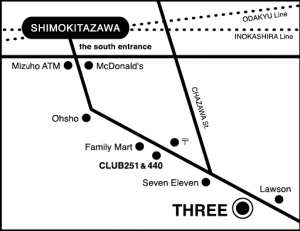 shimokitazawa THREE (LIVE & CLUB) map
